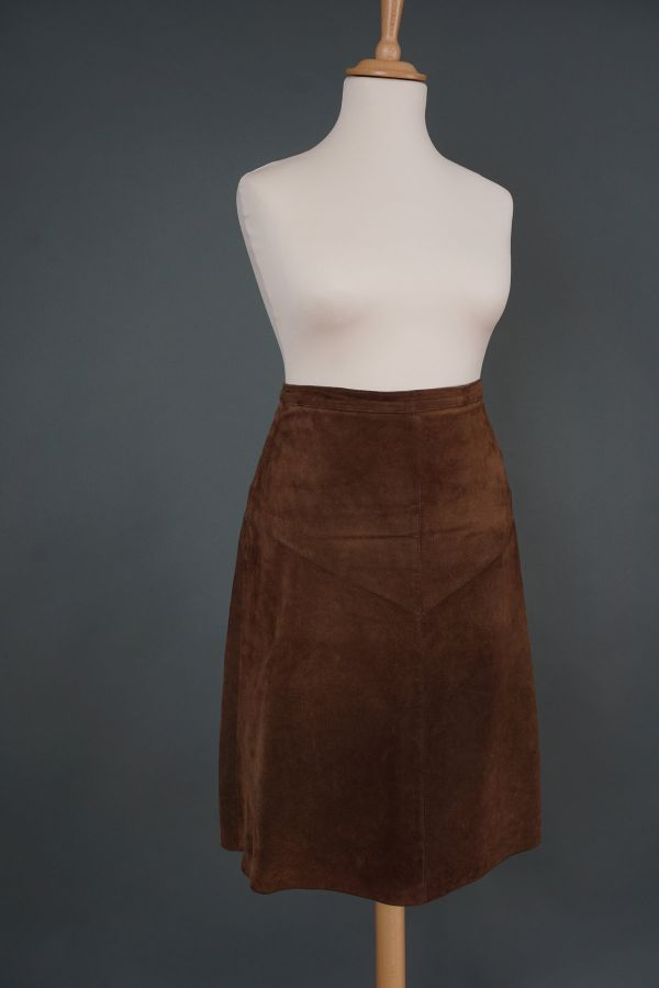Suede leather skirt Price