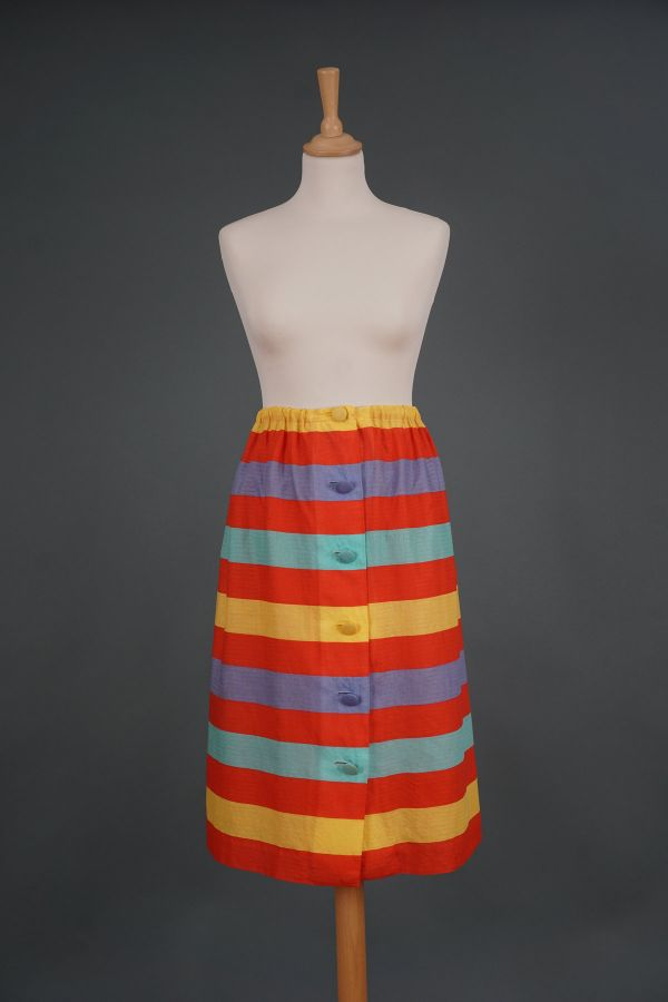 1980s colorful striped skirt Price